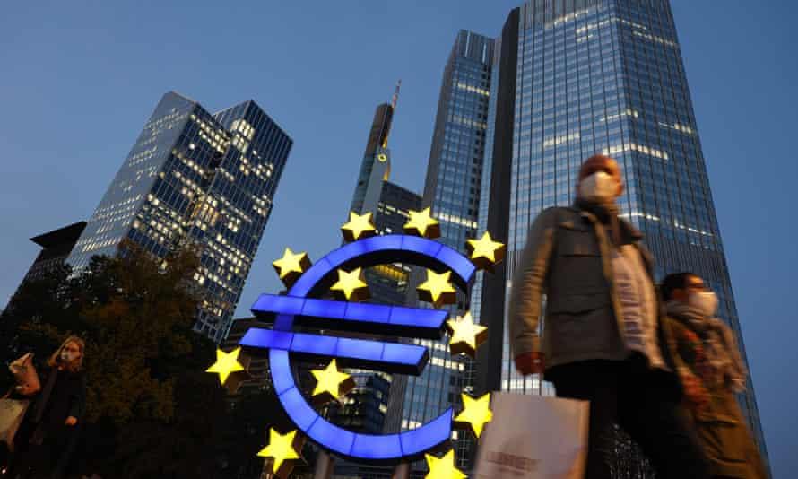 Frankfurt, home of the European Central Bank.