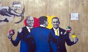A mural by the street artist Tvboy.
