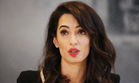 Amal Clooney, who last week stood down from her position as the government's special envoy on media freedom.
