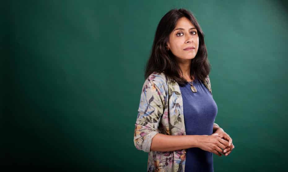 Anuradha Roy writes in English but speaks 'Bengali with my mother', Hindi and English with her husband and 'Hindi to the dogs'.