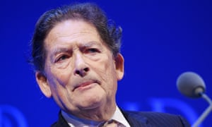 Nigel Lawson, founder of the Global Warming Policy Foundation, speaks at the Institute of Directors annual convention at the Royal Albert Hall in central London, England, 06 October 2015.