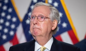 US Senate Majority Leader Mitch McConnell attends a news conference in Washington, DC on 21 July 2020.