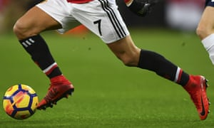 Legs of Manchester United player