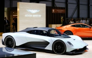 The Aston Martin AM-RB 003. Scheduled for production in 2021 it will use the company's new twin-turbo V6 engine mated to a hybrid system. The car will have carbon fibre bodywork.