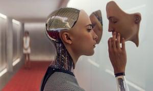 Faces of the future … the 2015 film Ex Machina.