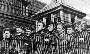 prisoners at Auschwitz.