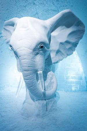 Icehotel December 2015: Elephant in the Room design by AnnaSofia Mååg (Sweden)