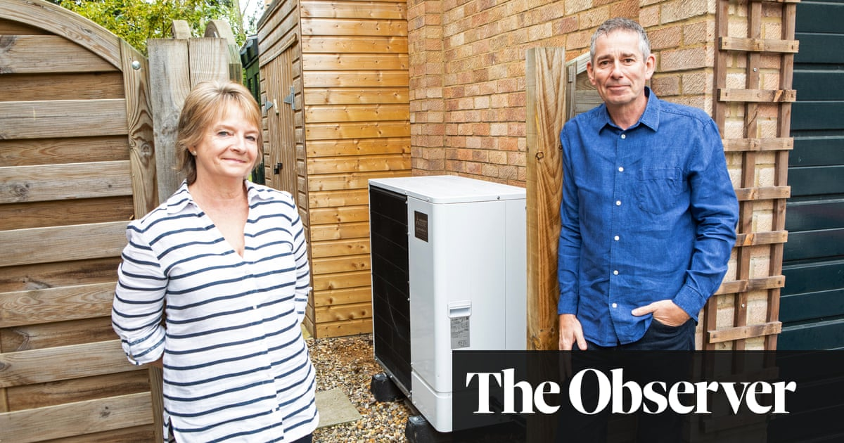 At home with a heat pump: 'It makes hot water when it's freezing outside'