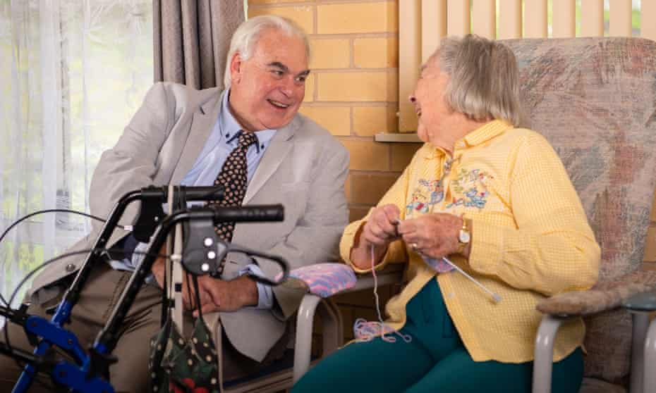 Scott Kable with Cowra Retirement Village resident Beth Bryant