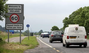 Traffic crosses the border freely between Donegal and Northern Ireland