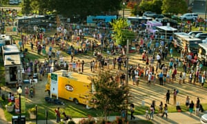 Food scene: every Friday there is a gathering of food trucks in the Dilworth neighborhood of Charlotte, NC.