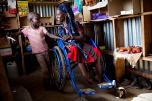 Christine Abwel, from Kakuma, who contracted polio as a child