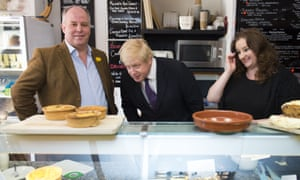 Andrew RT Davies, left, campaigning with Boris Johnson in Cardiff during the election campaign
