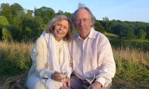 McEwan with his wife Annalena McAfee.
