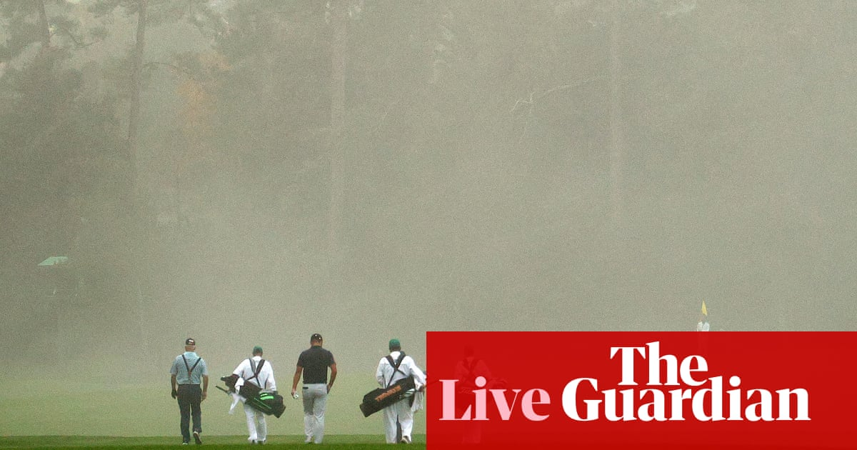 The Masters 2020: first round – live!