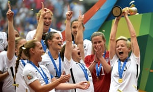 USA thrashed Japan 5-2 in the 2015 Women's World Cup final, with Carli Lloyd scoring a hat-trick.