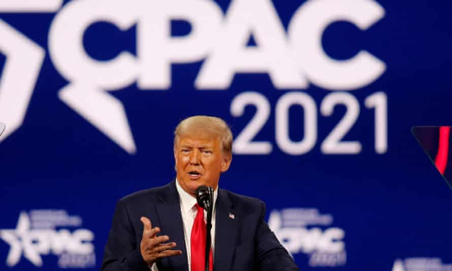 Donald Trump speaks at the Conservative Political Action Conference in Orlando.
