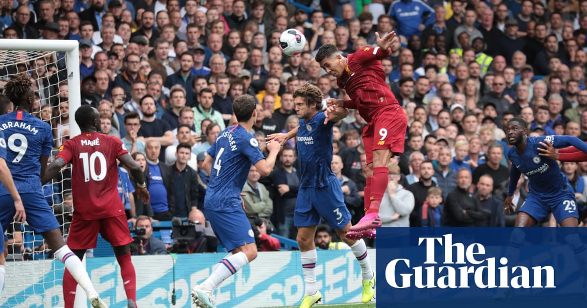 Roberto Firmino rises above Chelsea to keep up Liverpool's perfect start