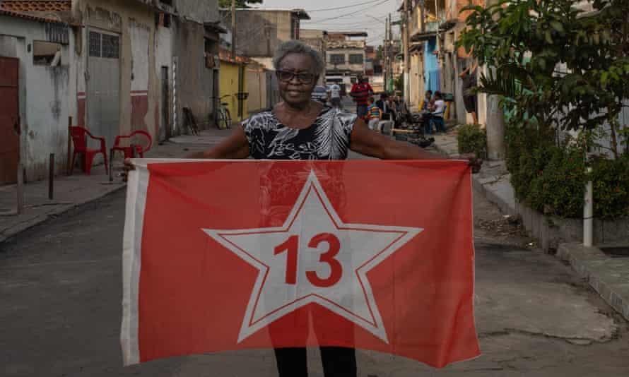 Anazir Maria de Oliveira, a veteran social activist from Rio de Janeiro, and Lula supporter