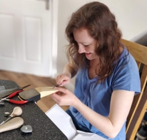 Silversmithing and jewellery student Alice Fry