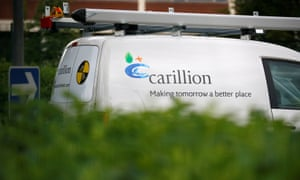 A Carillion sign on a van in Manchester