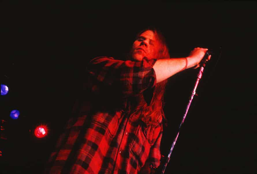 Great survivor: Lanegan on stage with the Screaming Trees in 1993.