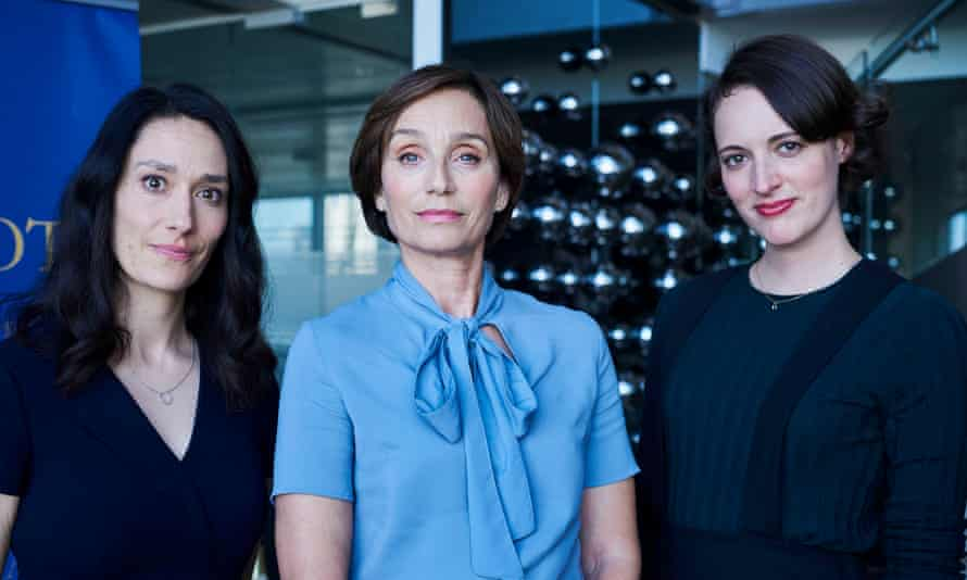Blood simple: 'It is the most wonderful thing in the world,' says Kristin Scott Thomas in Fleabag, pictured here with Sian Clifford and Phoebe Waller-Bridge.