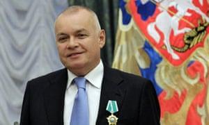 """""""今日俄罗斯""""负责人德米特里·基谢廖夫公开质疑肯德里克·怀特的活动。"""