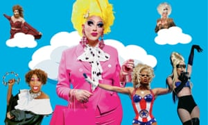 Clockwise from top left: Gingzilla: Glamonster vs the World; Karen from Finance; Lily Savage; Alaska Thunderfuck; RuPaul; Yshee Black.