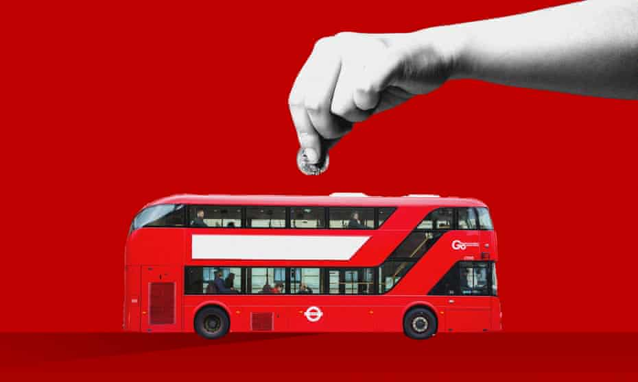 The Conservative government under Margaret Thatcher in the 1980s deregulated the bus industry across Britain, except in London.
