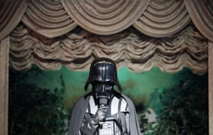 Las Vegas, US Kalin Ivanov, dressed as Darth Vader, officiates during a wedding at the Viva Las Vegas Wedding Chapel on Valentine's Day
