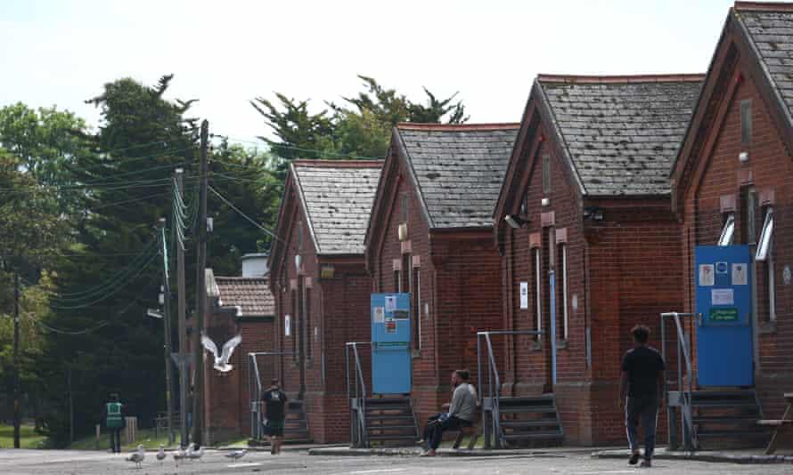 Napier barracks in Folkestone, England.