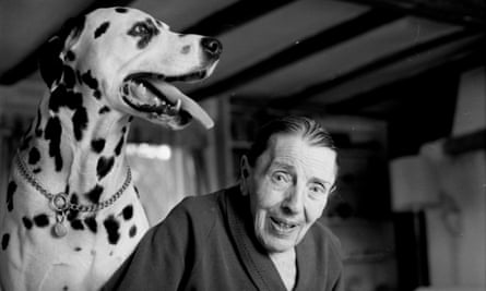 90-year-old Dodie Smith and Charley, pictured in 1986.