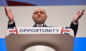 Sajid Javid addresses the Conservative conference
