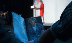Theresa May speaks at the Conservative party's spring forum.
