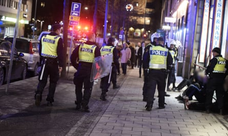 Swedish police detain suspects after migrants and refugees were targeted in Stockholm's central station.