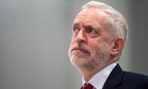 Jeremy Corbyn delivering a speech on Brexit