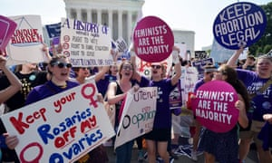Abortion activists cheer in June after the US supreme court struck down a Texas law clamping down on clinics. The state has since continued its efforts to restrict abortion.