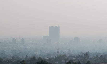 Heavy pollution in Mexico City earlier this year.