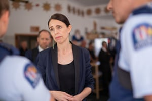 Several Dead Following Volcanic Eruption On Bay of PlentyWHAKATANE, NEW ZEALAND - DECEMBER 10: New Zealand Prime Minister Jacinda Ardern meets with first responders at the Whakatane Fire Station on December 10, 2019 in Whakatane, New Zealand. Five people are confirmed dead and several people are missing following a volcanic eruption at White Island on Monday. (Photo by Dom Thomas/Radio NZ - Pool/Getty Images)