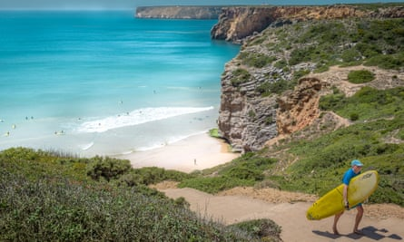 Beliche beach in the Algarve region of Portugal