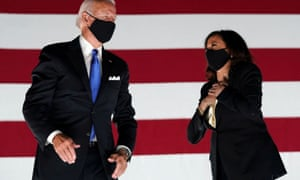 Democratic presidential candidate and former Vice President Joe Biden and US Senator and Democratic candidate for Vice President Kamala Harris.