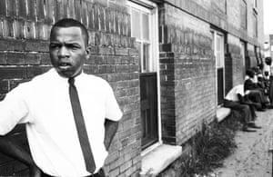 A portrait of Lewis taken in Clarksdale, Mississippi in 1963.