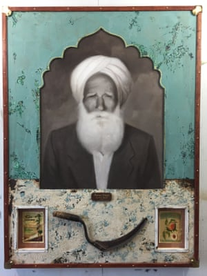 Family patriarch Puran Singh, in artwork by Jules Arthur.