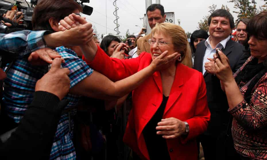 Michelle Bachelet became Chile's first female president in 2006.