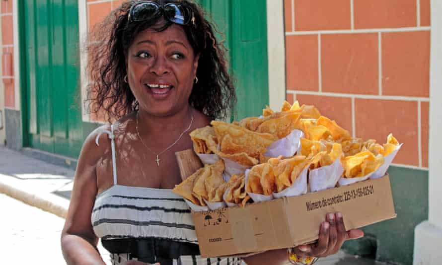Fried dough snacks for sale on the streets of Havana's old town. The island's cuisine is rich and varied, but barely known to most westerners.