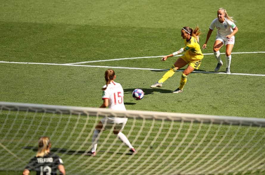Kosovare Asllani drills Sweden into an early lead.