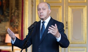 The French foreign minister, Laurent Fabius