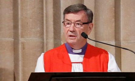 Sydney Anglican Archbishop Glenn Davies at a church service