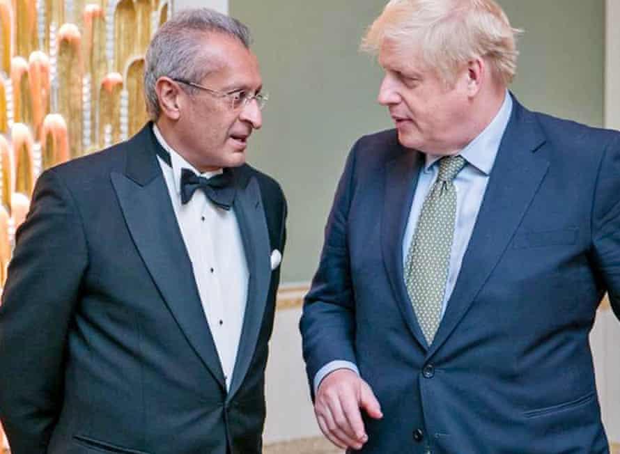 Mohamed Amersi with Boris Johnson
